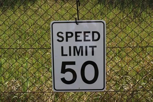 SIGN LIMIT50 (サイン・看板・標識・USA)