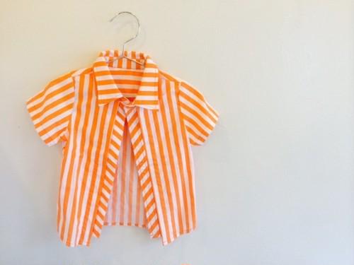 オレンジストライプシャツ ラスト2点 100サイズ
