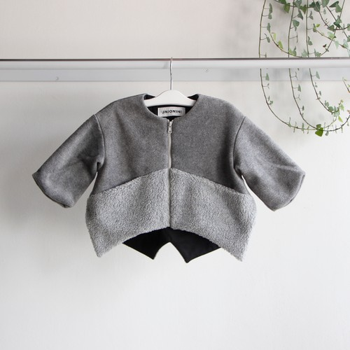 《UNIONINI 2019AW》fleece jacket / gray / 1-10Y