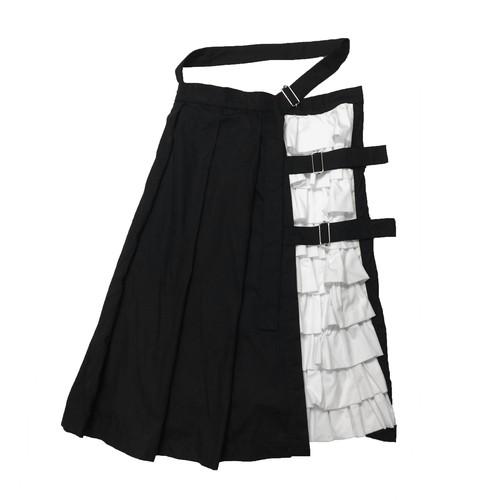 フリルベルト巻きスカート black