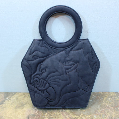 KRIZIA LEATHER HAND BAG MADE IN ITALY/クリツィアレザーハンドバッグ