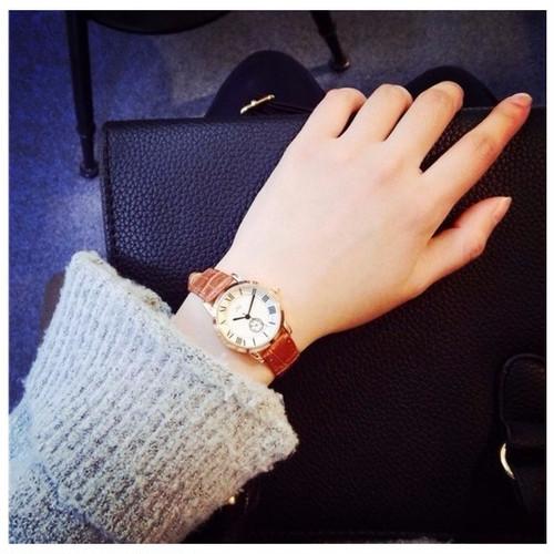 ミニフェイス 腕時計 レディース 森ガール OL 通勤 プライベート お揃い ペアウォッチ 清楚 シンプル