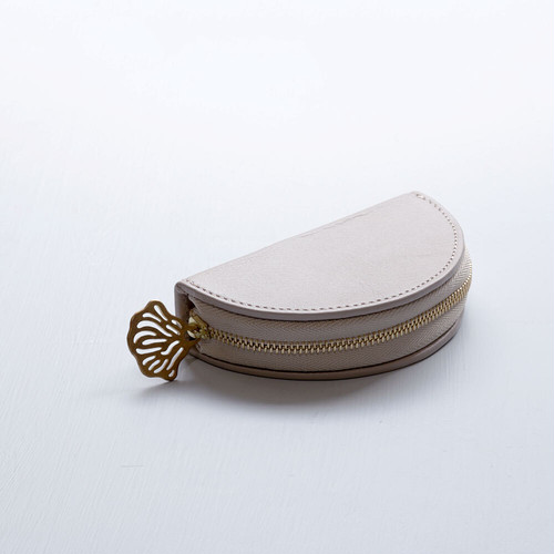 flutter coin case (pink gray)