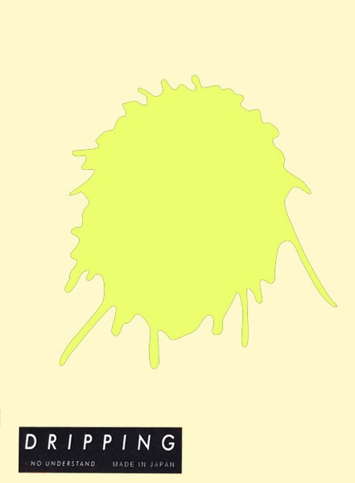 DRIPPING Sticker L(シトロングリーン)