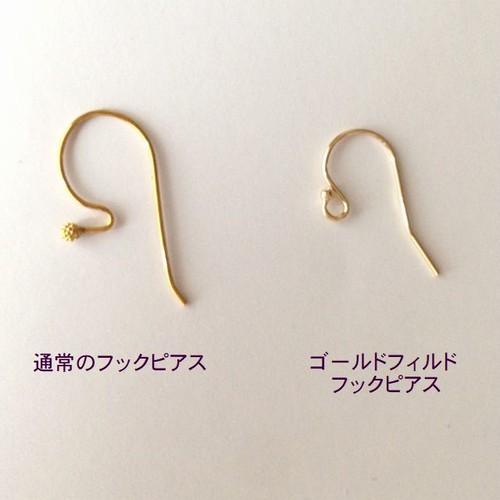 【金属アレルギー対応】フックピアス変更/ゴールドフィルド