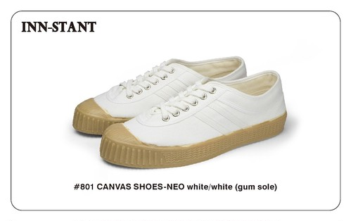 #801 CANVAS SHOES-NEO white/white(gum sole) INN-STANT インスタント 【税込・送料無料】