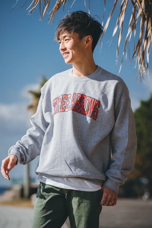 THREEARROWS College LOGO SWEAT(gray)
