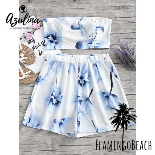 【FlamingoBeach】blue flower setup セットアップ