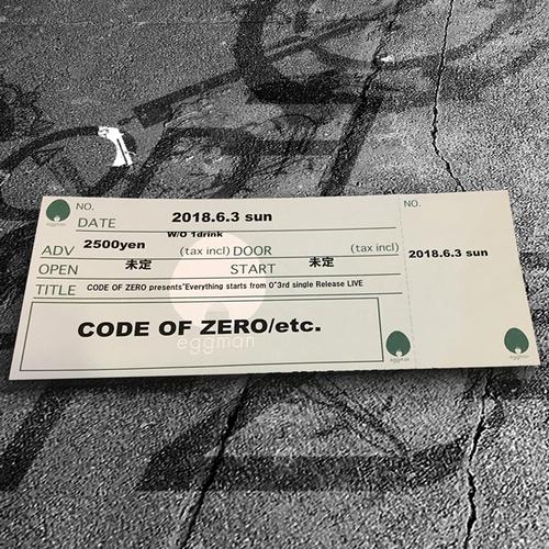 2018.6.03 3rd Single Release LiVE TICKET(サイン付き)