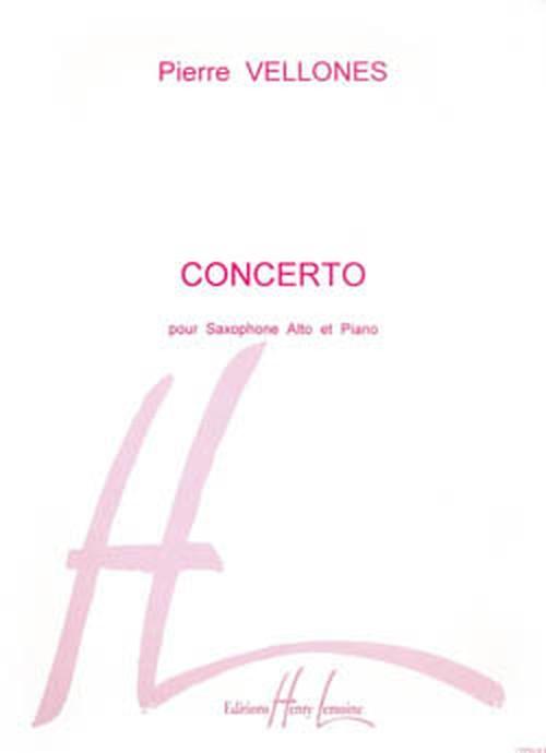 ヴェローネ:サクソフォーン協奏曲 op.65 / アルトサクソフォーン,ピアノ