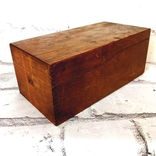 品番2024 ウッドファイルボックス 木製 アンティーク 家具 オフィスボックス 木箱
