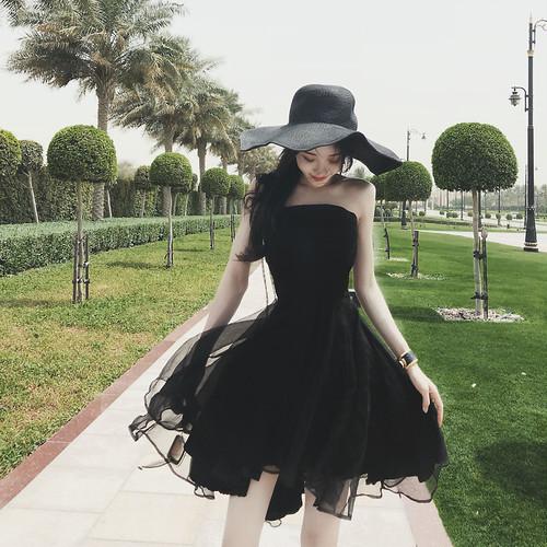 チューブトップドレス ふわふわスカート パーティにぴったり♪