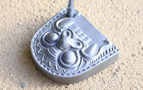 瓦パター 古代鬼面 -いぶし銀 smoked silver-