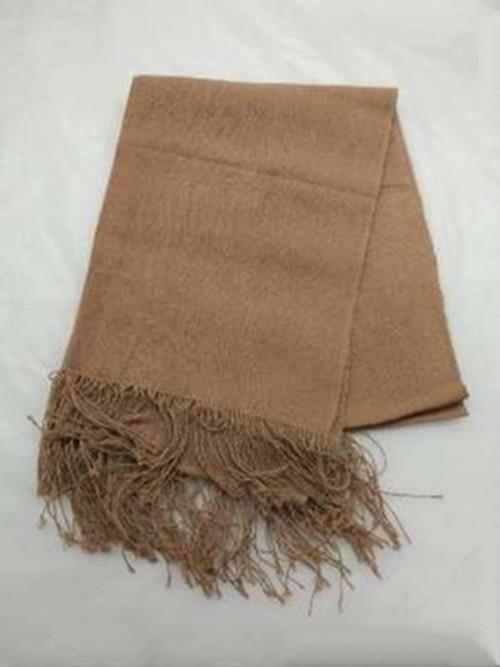 GBJWブータン産ストール18002 Madder(アカネ) Wild silk(野蚕) 80% Cotton 20%