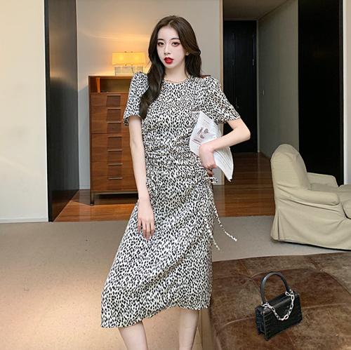 【dress】絶対流行ファッションセクシーヒョウ柄フェミニンデートワンピース