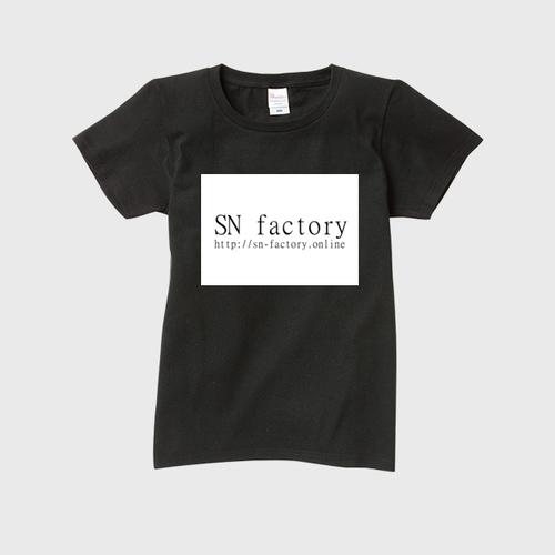 SN factory officialレディースTシャツ 黒