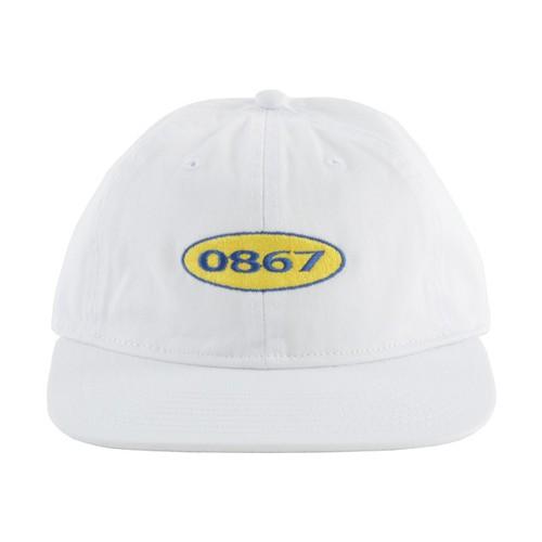 0867 / Unstructured Cap / Box / Logo / White