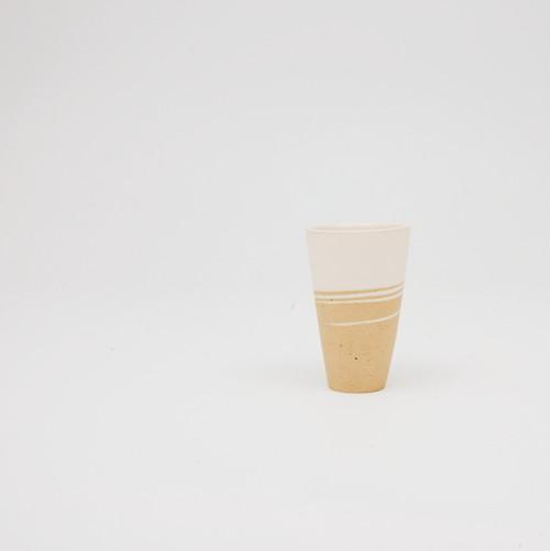 ぐいのみ 白×黄土【再入荷】