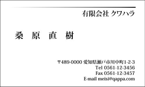 モノクロ名刺1017  100枚