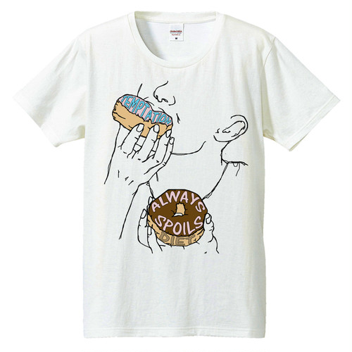 [Tシャツ] temptation always spoils diet