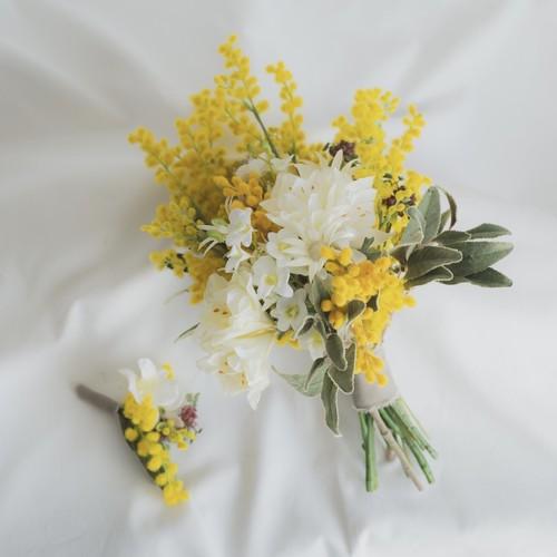 【Rental7泊8日】mimoza bouquet & boutonniere