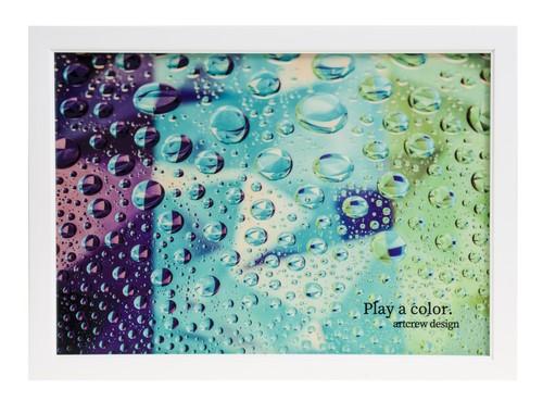 Play a color. ~Polka dot triplecolor~  A4サイズ 白い額入り