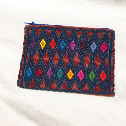 メキシコ チアパス州 手織りポーチ(小)