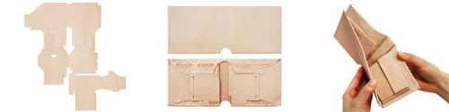 ワンパターン型の折り財布用オールインワンパーツ