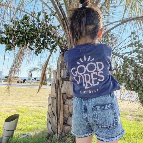★Kids★ GOOD VIBES Tee - Indigo