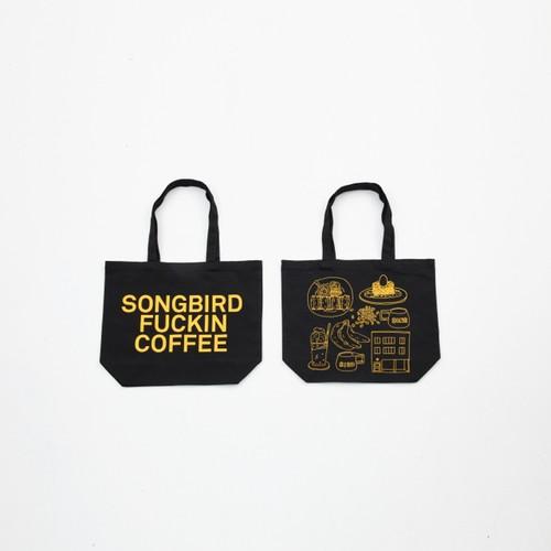 Anoraks   SONGBIRD FUCKIN COFFEE TOTE Anoraks Size [Black+Yellow]