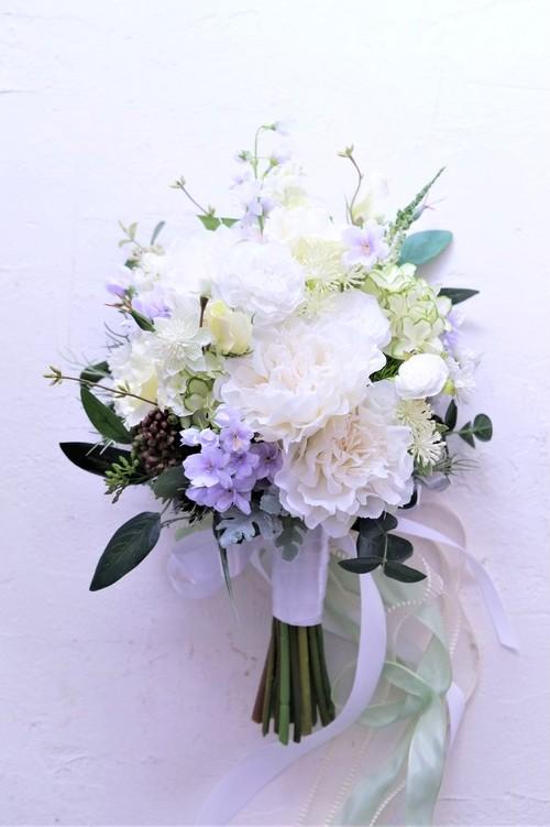 〖 オーダーメイド 〗アーティフィシャルフラワーのウェディングブーケ / 造花のブーケ・Sample Item No,6605555