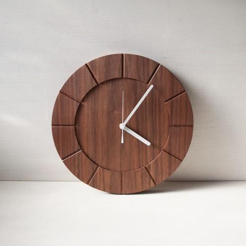 木の時計01(Φ300) No6 | ウォールナット