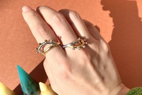 dot bicolor ring