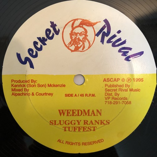 Sluggy Ranks & Tuffest - Weedman【12-50004】
