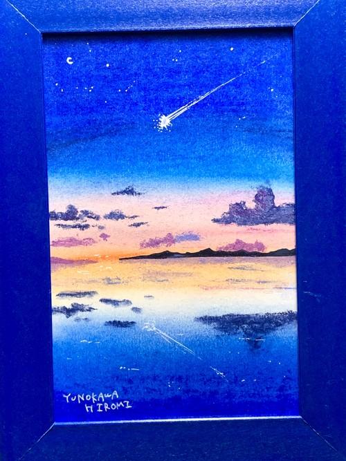 一点物の絵 no.214「流星に願いを込めて」
