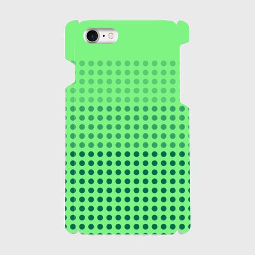 昭和デザイン(緑) / iPhoneスマホケース(ハードケース)