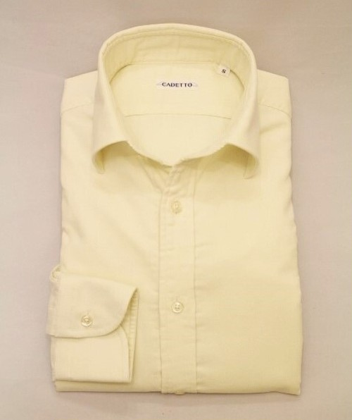CADETTO ORIGINALS SHIRTS Micro Corduroy Off-white&Beige