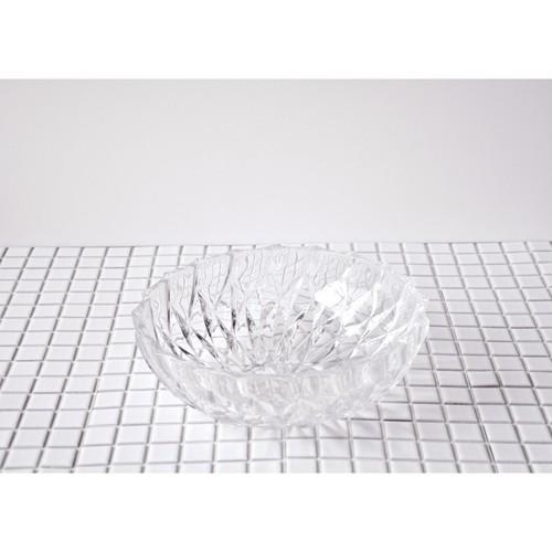 【 retro glass bowl 】大皿 / プレスガラス / vintage / japan