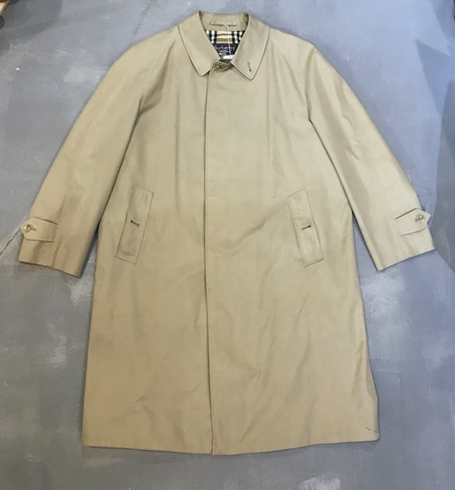 Burberry Stand Collar Coat / Made in ENGLAND[L-183]