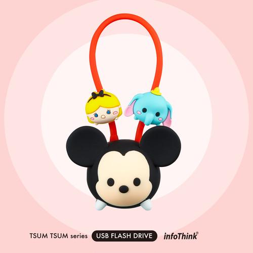 InfoThink USBメモリ Disney ディズニー ツムツム USBフラッシュドライブ 16GB ミッキー USB-100 (TSUM Mickey)