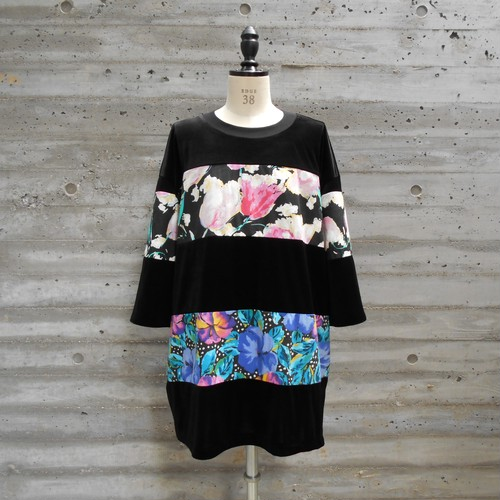 WIDE BORDER VELOR TOPS◆TULIP2