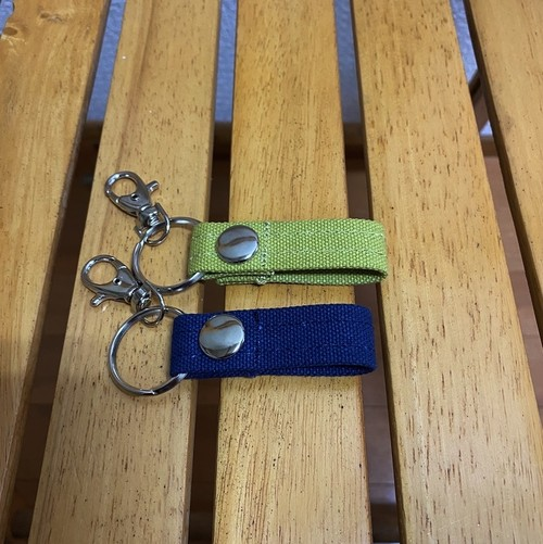 全14色 ecoなキーホルダー 倉敷帆布8号 和泉木綿帆布【受注制作】