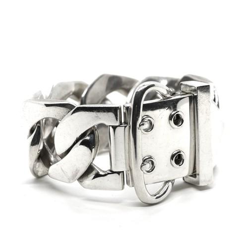 Hermès Vintage Sterling Silver Boucle Sellier Bracelet TGM