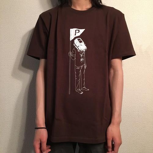 半゜田(パンダ)くんTシャツ【チョコレート】