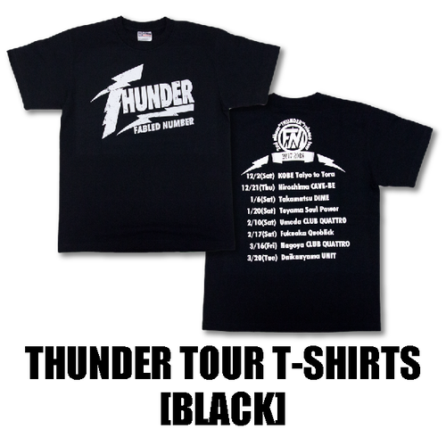 THUNDER TOUR T-SHIRTS[黒]