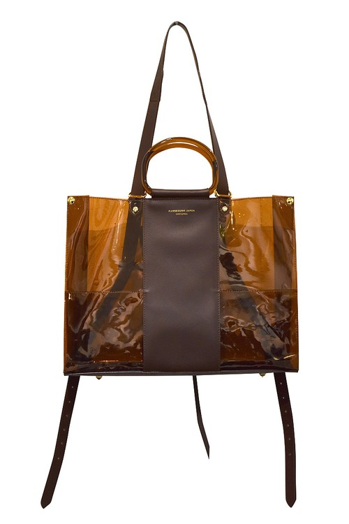 Mannequins JAPON / PVC×LEATHER 3WAY TOTE 横 / AMBER