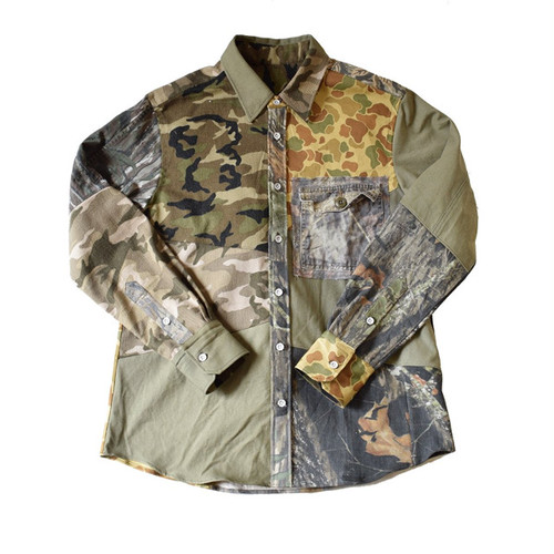 HAND MADE Military Shirts 004 L ハンドメイド ミリタリー シャツ