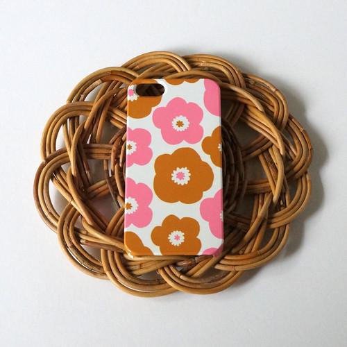 【iPhone / Android】側表面印刷*ハード型*スマホケース「popy  ( camel × pink )」