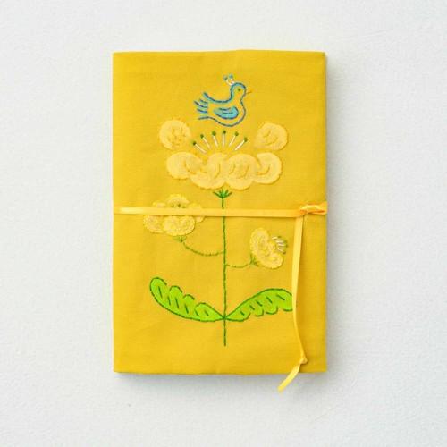 【抽選販売】[B(黄色地)]みずうちさとみさんの「天然生活手帖用オリジナル手帖カバー」布製【限定2個】