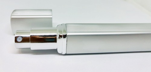旅行先で香水アロマ♪ 携帯用スプレーボトル 12ml -シルバー-